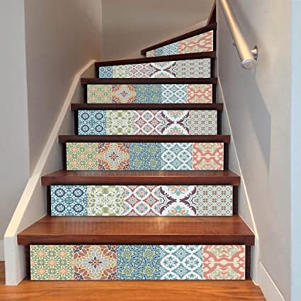 Wall Stickers,Elaco DIY Steps Sticker Removable Stair Sticker Home Decor  Ceramic Tiles Patterns (