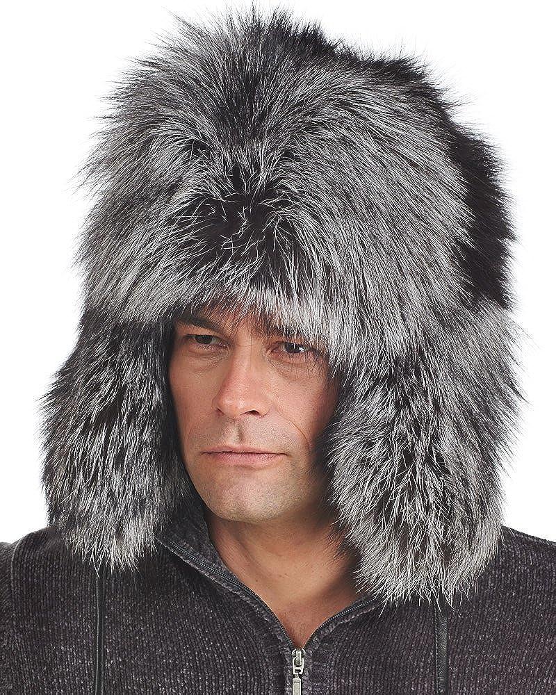 6155737bc frr Silver Fox Full Fur Russian Hat