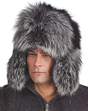 f148ac81a85993 frr Silver Fox Full Fur Russian Hat at Amazon Men's Clothing store: