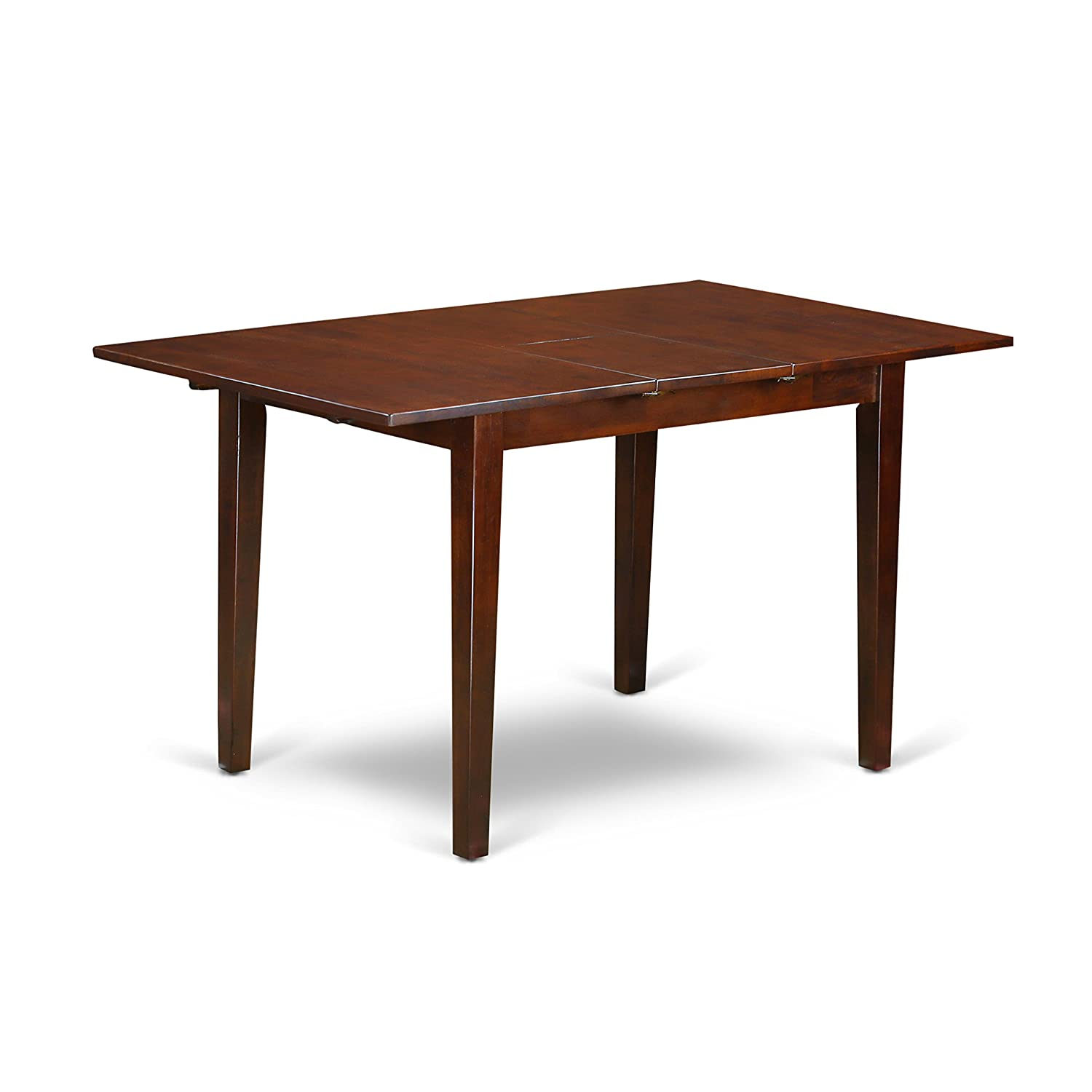 Picasso Table 32 in x 60in with 12 in butterfly leaf – Mahogany Finish