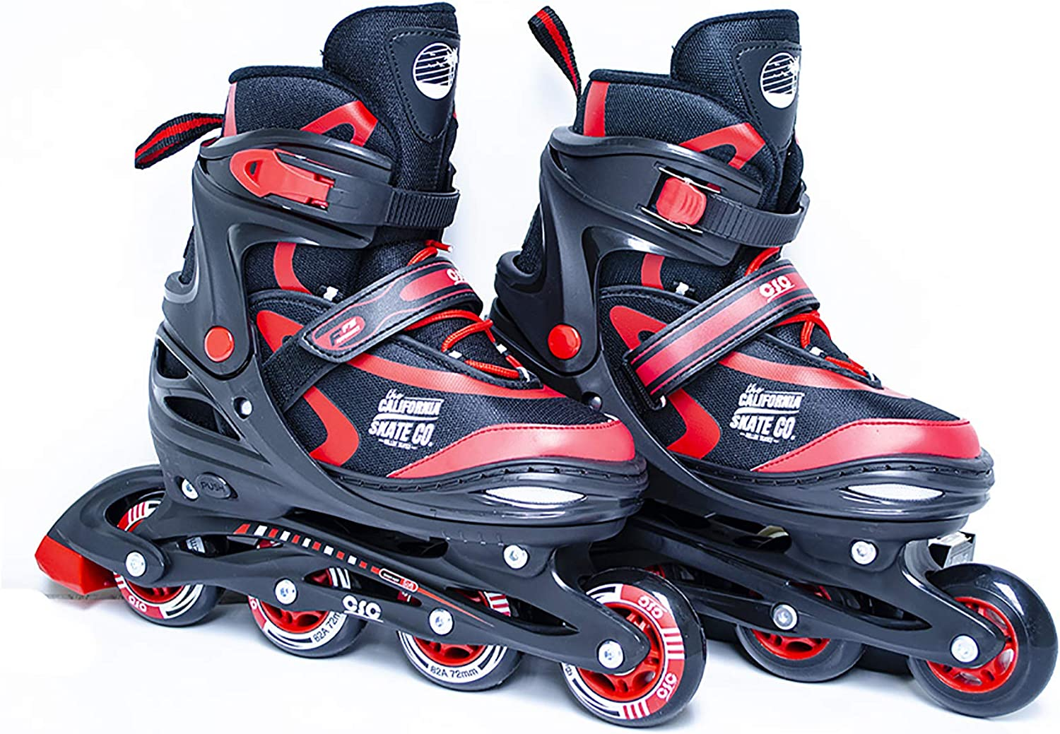 California Skate Co Adjustable Inline Skates – Zuma Kids Beginner Roller Skates for Girls, Boys, Men, Women