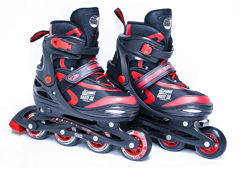 California Skate Co Adjustable Inline Skates – Zuma Kids Beginner Roller Skates for Girls, Boys, Men, Women