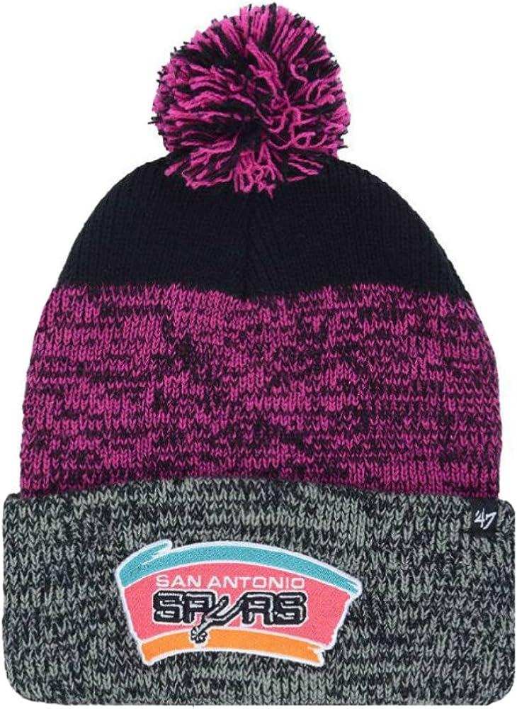 best choice buy popular half off Amazon.com : San Antonio Spurs Knit Pom Beanie Hat One Size Fits ...