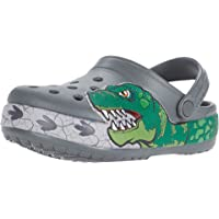 Crocs Kids' Fun Lab Dino Band Light Up Clog | Light Up Shoes for Boys and Girls