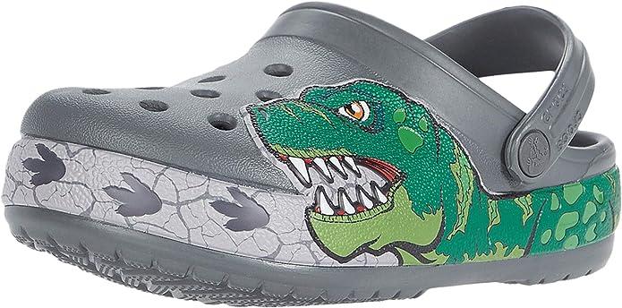 New Boy/'s Crocs Comfort Shoes Black Fun Lab Black Panther Clog Slate Grey