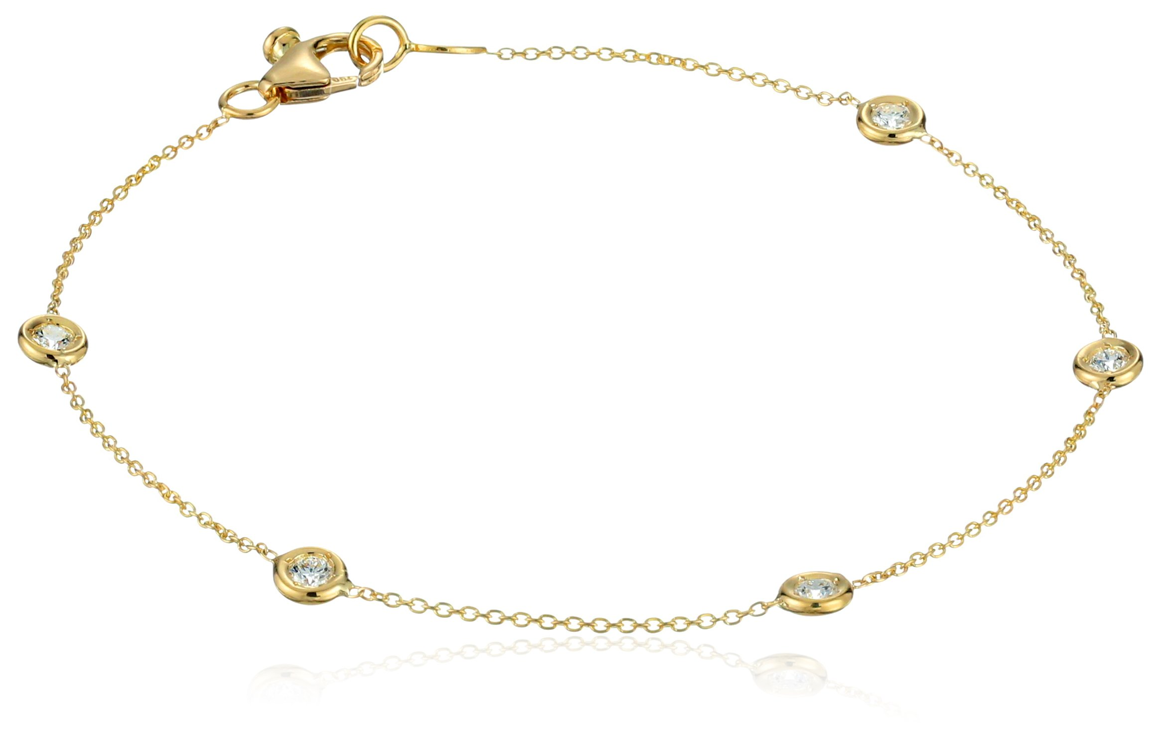 Roberto Coin ''Tiny Treasures'' 5 Station Bezel Set Diamond Bracelet