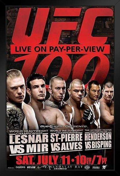 UFC 100 Bud Light Poster Georges st-Pierre Brock Lesnar Frank Me Dan Henderson