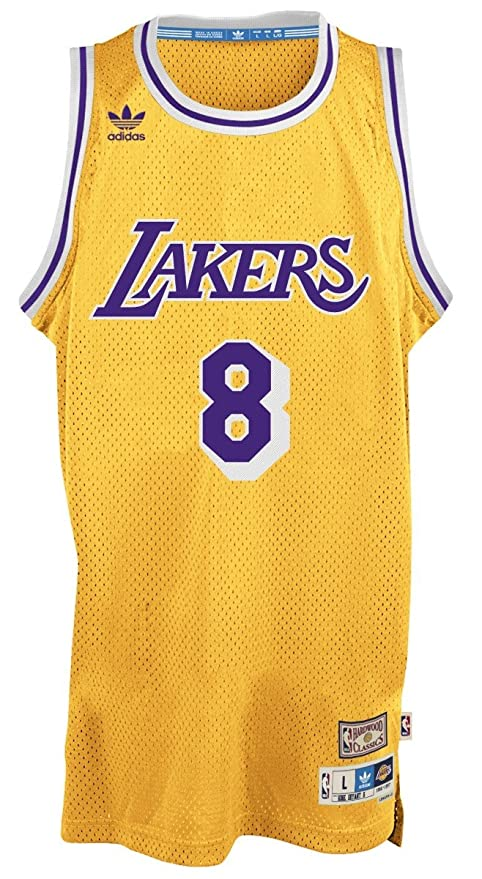 4375d251 adidas Kobe Bryant Los Angeles Lakers Gold Throwback Swingman Jersey Small