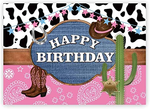 Cactus Cowboy Wild West Birthday Personalized Birthday Banner Party Decoration