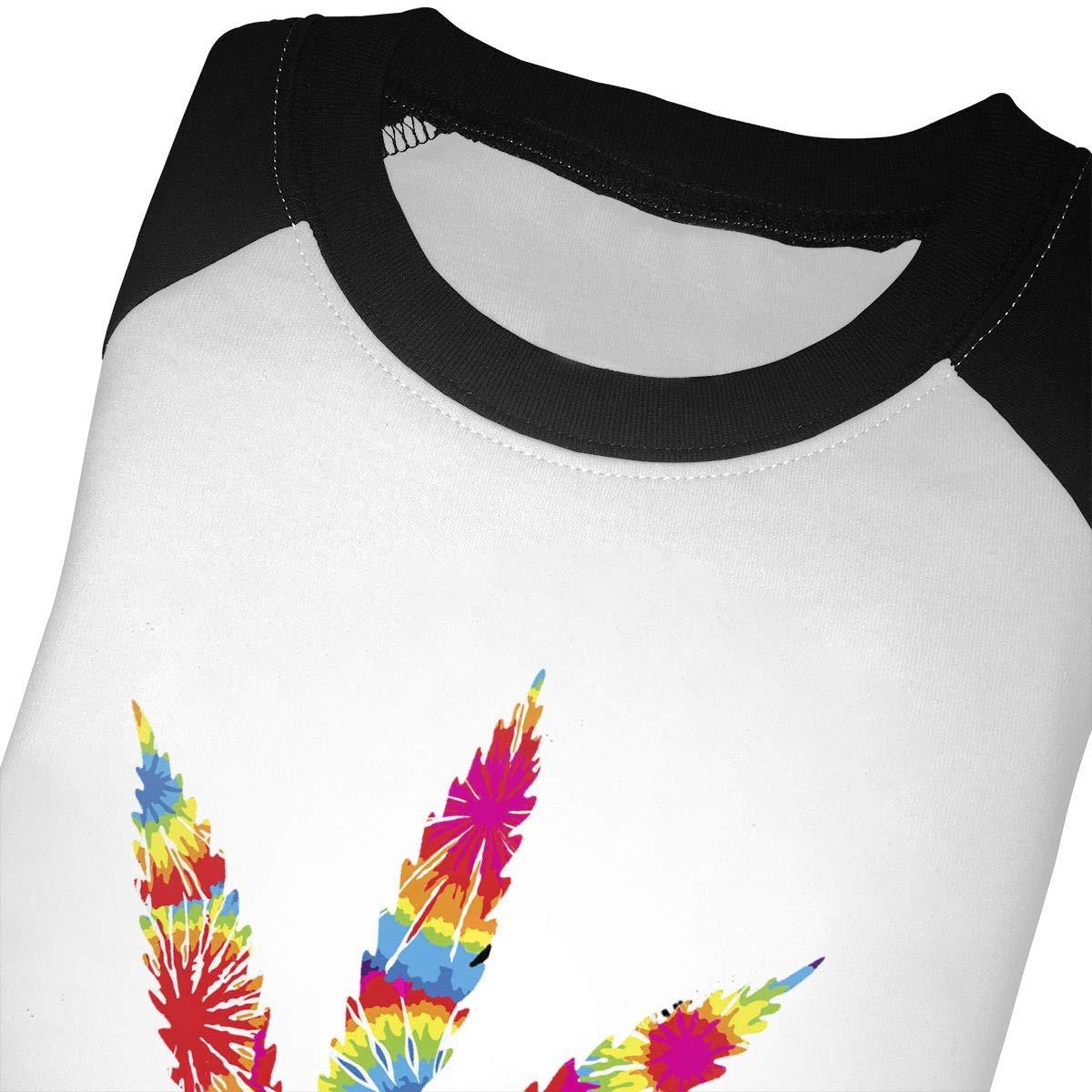 Pot Leaf Weed Kids Jersey Raglan T-Shirt Children 3//4 Sleeve Baseball Shirt Top
