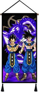 THEFUNMAKE Goku Canvas Painting Poster, Hanging Wall Art Scroll Artwork Print Decor Picutre18x36in for Bedroom Office
