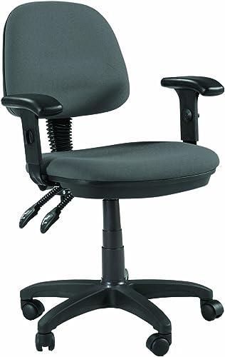 Martin Universal Design Feng Shui Desk-Height Chair, Gray Fabric, 1 Each
