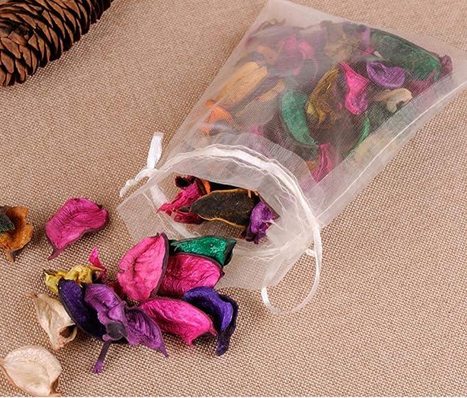 Amazon.com: Wuligirl 100 bolsas de regalo de organza con ...