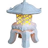 """TIAAN 14""""height Japanese style lantern Solar garden lamp Solar pagoda light"""