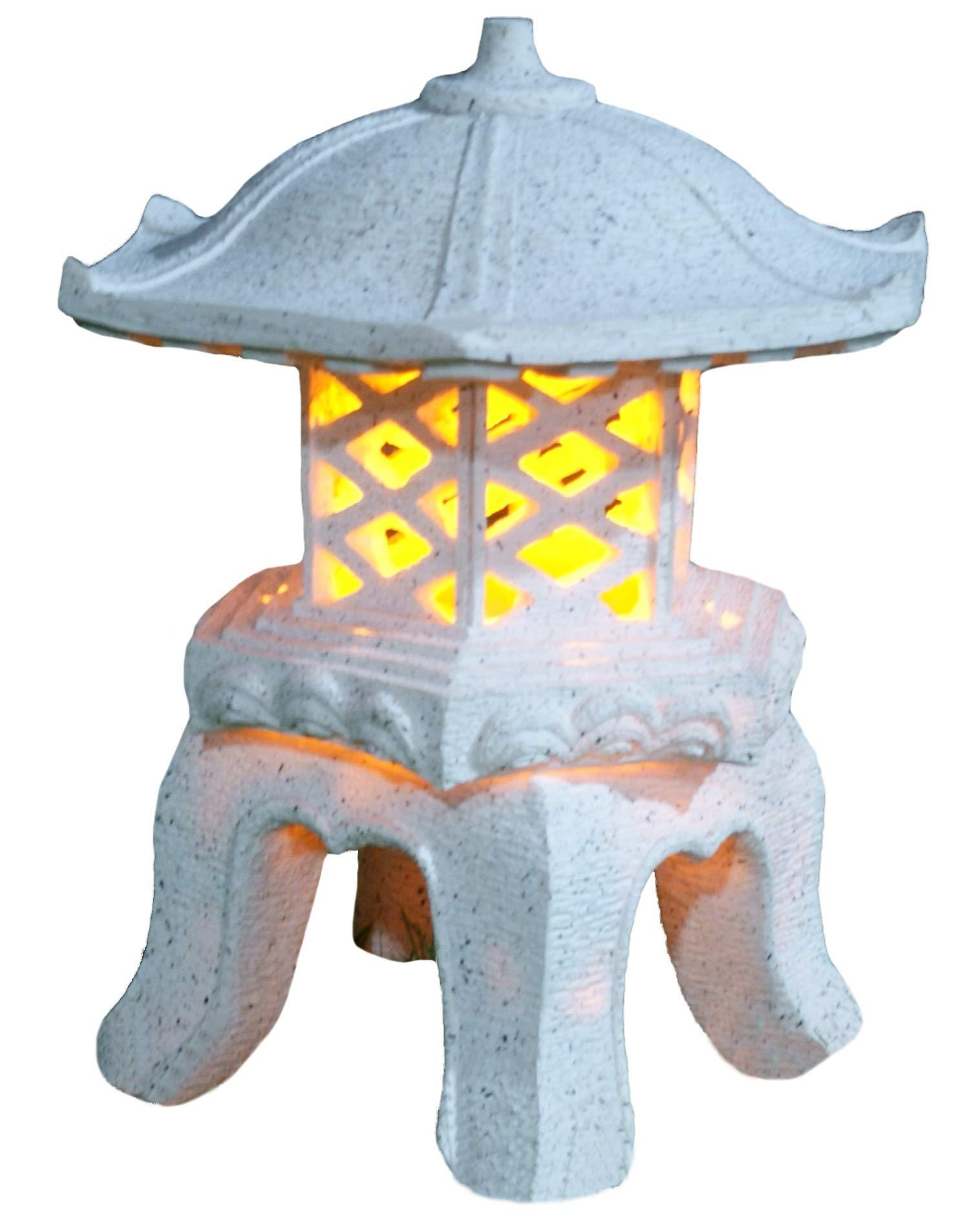 TIAAN 14''height Japanese style lantern Solar garden lamp Solar pagoda light by TIAAN
