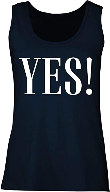 lepni.me Camisetas sin Mangas para Mujer Una Camisa Que Diga sí, Claro, está Bien. Humor Positivo