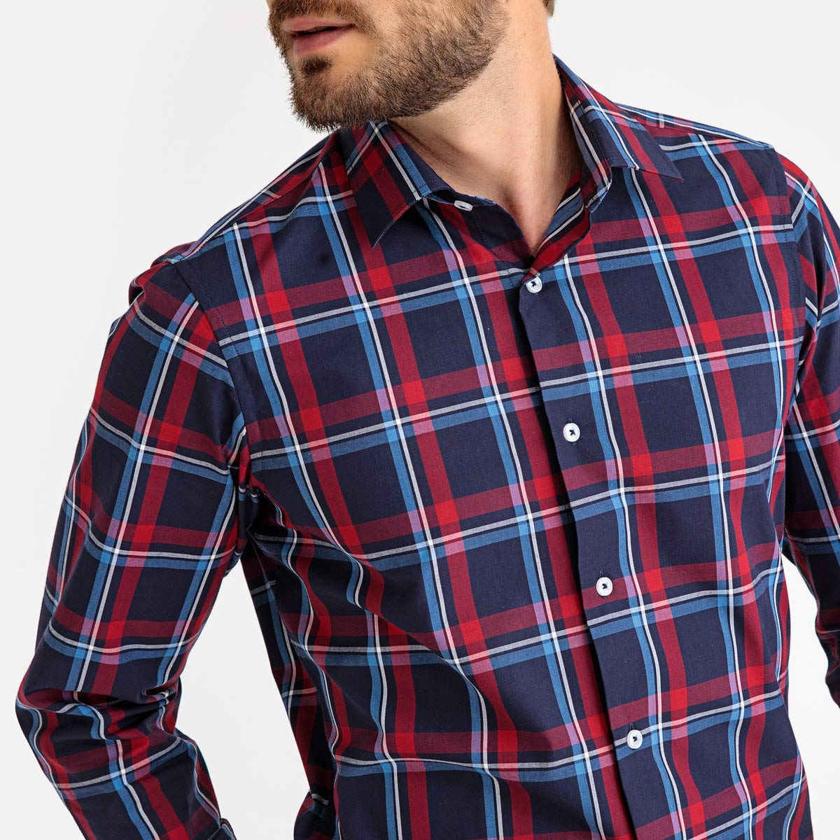 La Redoute Collections Mens Slim Fit Checked Shirt