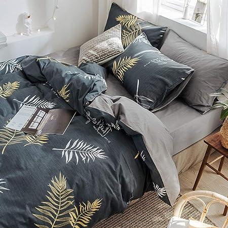 WPQBS Sábana,sábanas de algodón de algodón de Cuatro Piezas cubrecama cubrecama Individual Dormitorio Sombrero de Cama, 23,200x230cm: Amazon.es: Hogar
