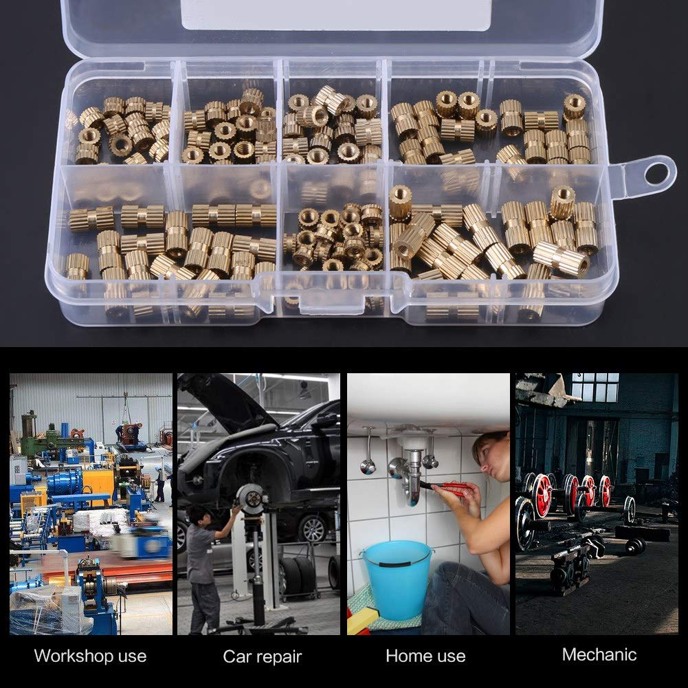 it Never rusts for The Machine Industry Good Corrosion Resistance Durable to use Convenient for Transporting The M3 Insert nut 150 Piece Insert nut for The