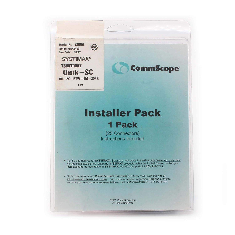 Amazon com: Commscope QK-SC-BTW-SM-25PK Fiber Optic