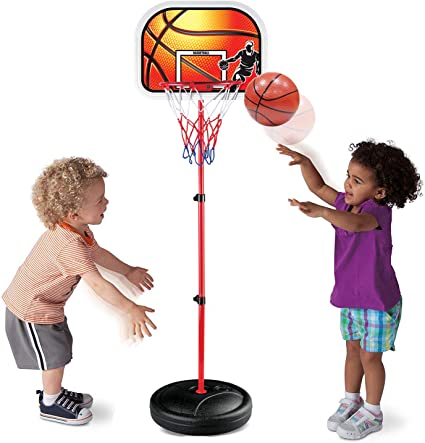 Children Backboard Hoop Net Set Kids Portable Basketball Stand Garden Game Toys