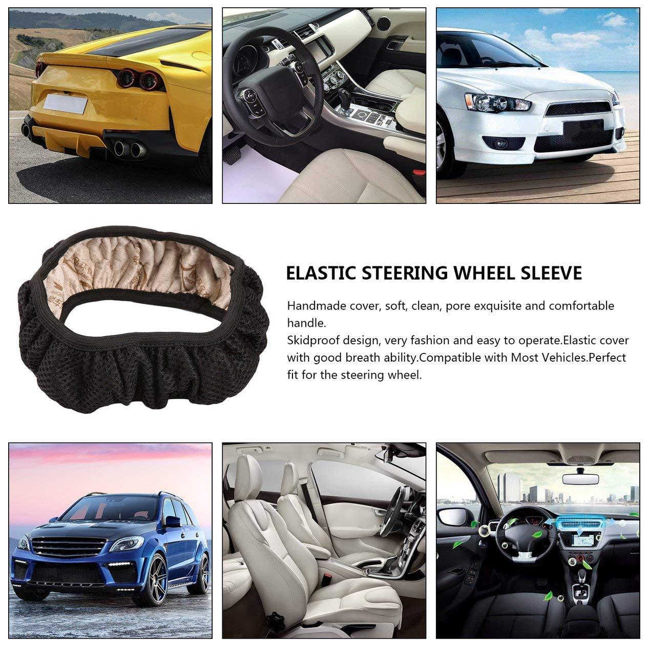 para decoraci/ón de veh/ículos hecha a mano antideslizante alta elasticidad EdBerk74 Funda universal antideslizante para volante de coche