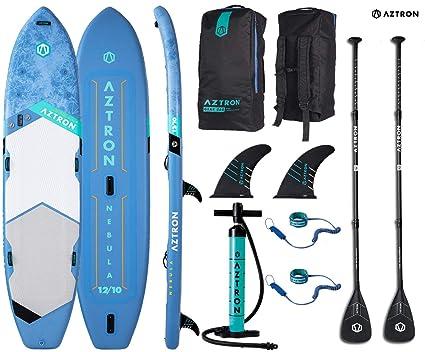 "Aztron Nebula Tabla de Paddle Surf Hinchable 2+1 Personas Premium 12"" 10"