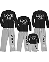 Family Ski Trip Matching Sleepwear Sets for Whole Family Adult; Kids Playwear