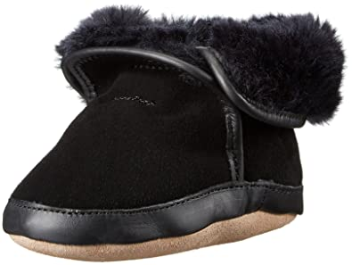 5a0ccfea0acd Robeez Boys  Cozy Ankle Bootie Boot Black 0-6 Months M US Infant