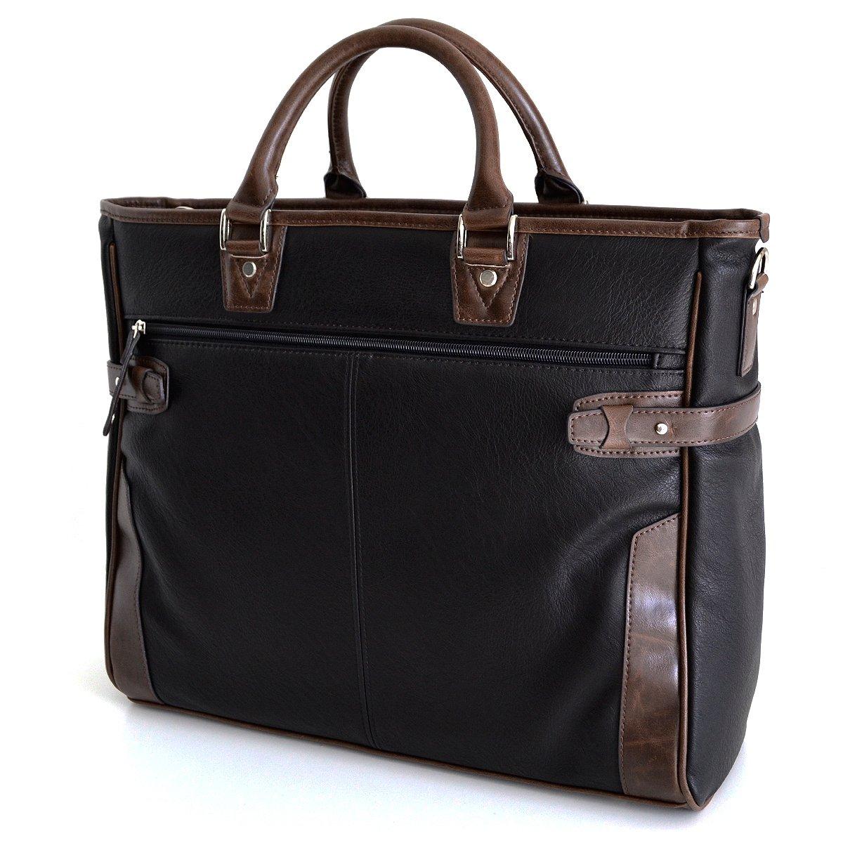 AVECALDO(アベカルド) 紳士用 ビジネスバッグ メンズ B4 AV-E027 B014ORBWKG ブラック ブラック