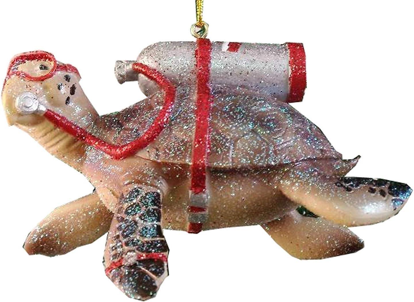 December Diamonds Tortuga Scuba Diving Sea Turtle Christmas Ornament 5590387 New