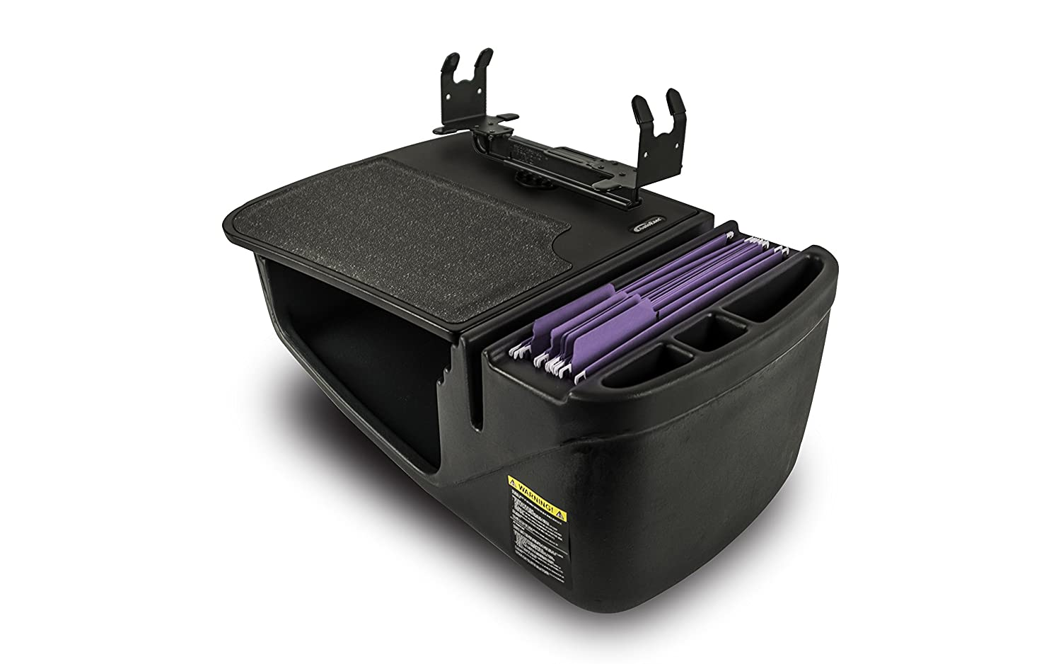 with Built-in Power Inverter, Printer Stand and iPad//Tablet Mount AutoExec AUE08175 Efficiency GripMaster Car Desk