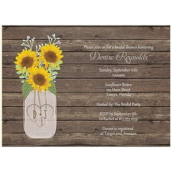 Amazon Sunflower Bridal Shower Invitations Wedding