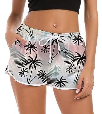 1b90d9da41559f NEWISTAR Short de Bain Femme Bas de Maillot de Bain Eté Multiusage Sport  Shorts pour l'Yoga,Jogging,Natation Plage Piscine