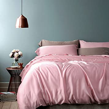 Rose Gold Duvet Cover Luxury Bedding Set High Thread Count Egyptian Cotton  Sateen Silky Soft Blush. Amazon com  Rose Gold Duvet Cover Luxury Bedding Set High Thread