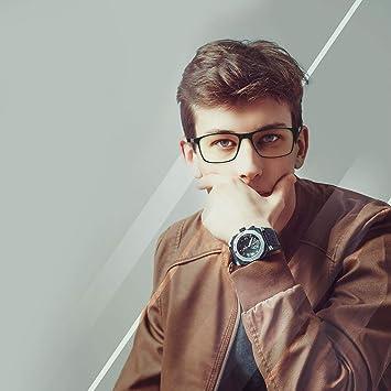 M/&A Gafas de Ordenador Gafas Lectura para Protecci/ón contra Luz Azul TR90 /& Acero Inoxidable Material Marco Ultraligero Azul Gafas para Bloquear el Dolor de Cabeza por Rayos Ultravioleta