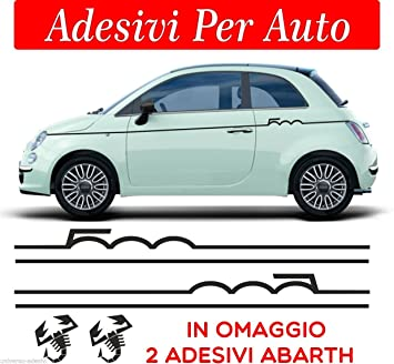 Sardegna Services Set Car Fiat 500 Abarth Tuning Band