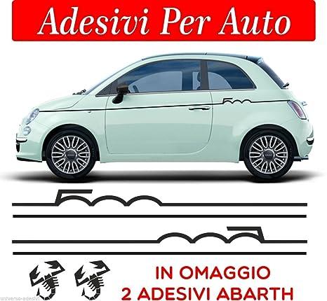 migliori marche prezzi al dettaglio vendita calda online Sardegna Services Set Fasce Strisce Fiat 500 Abarth Tuning Bande ADESIVE  Stickers Auto - Accessori, Stickers, Decal