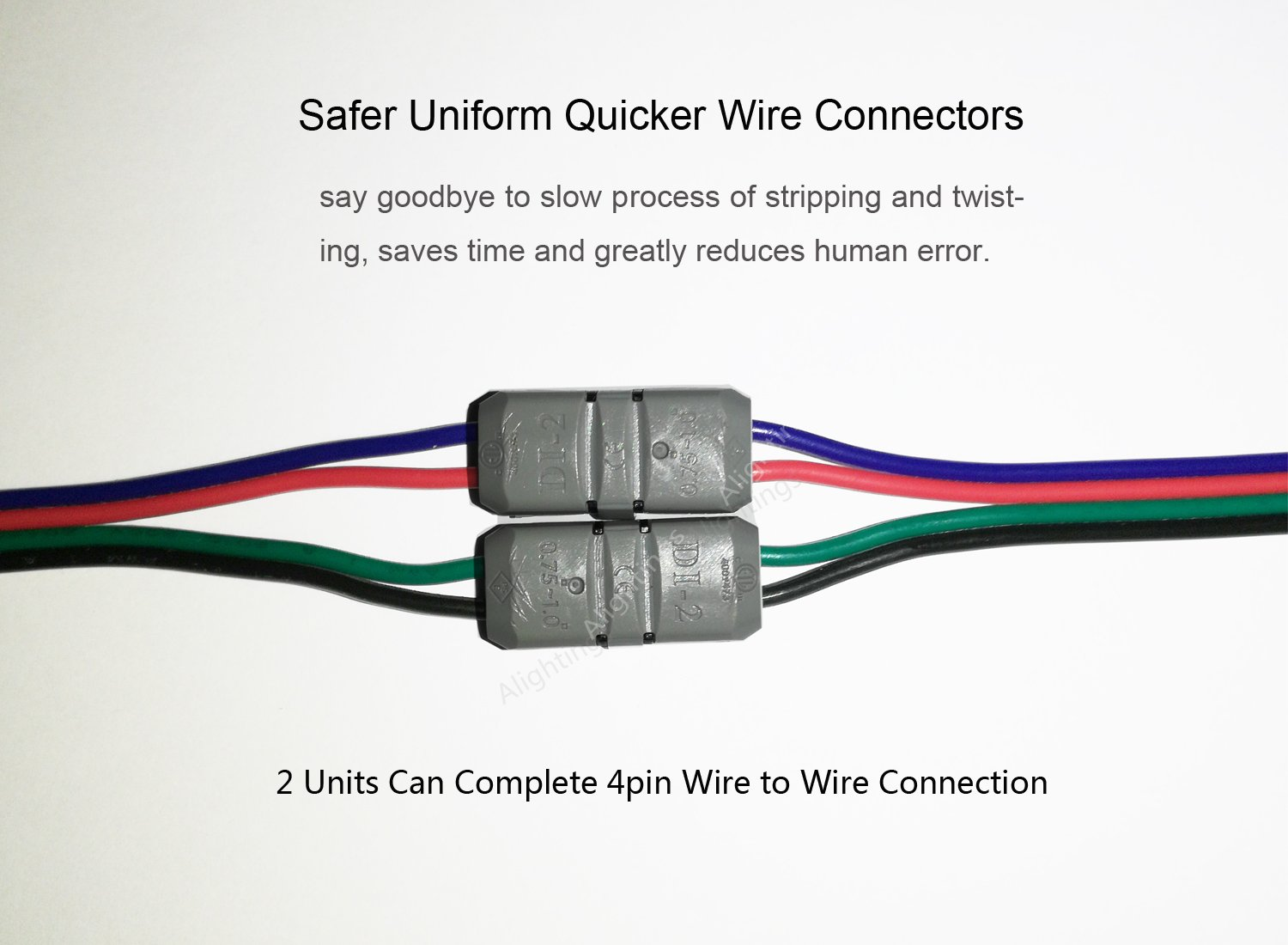 Electrical Wire Connectors, Dual Way Straight Connection Quick Splice on
