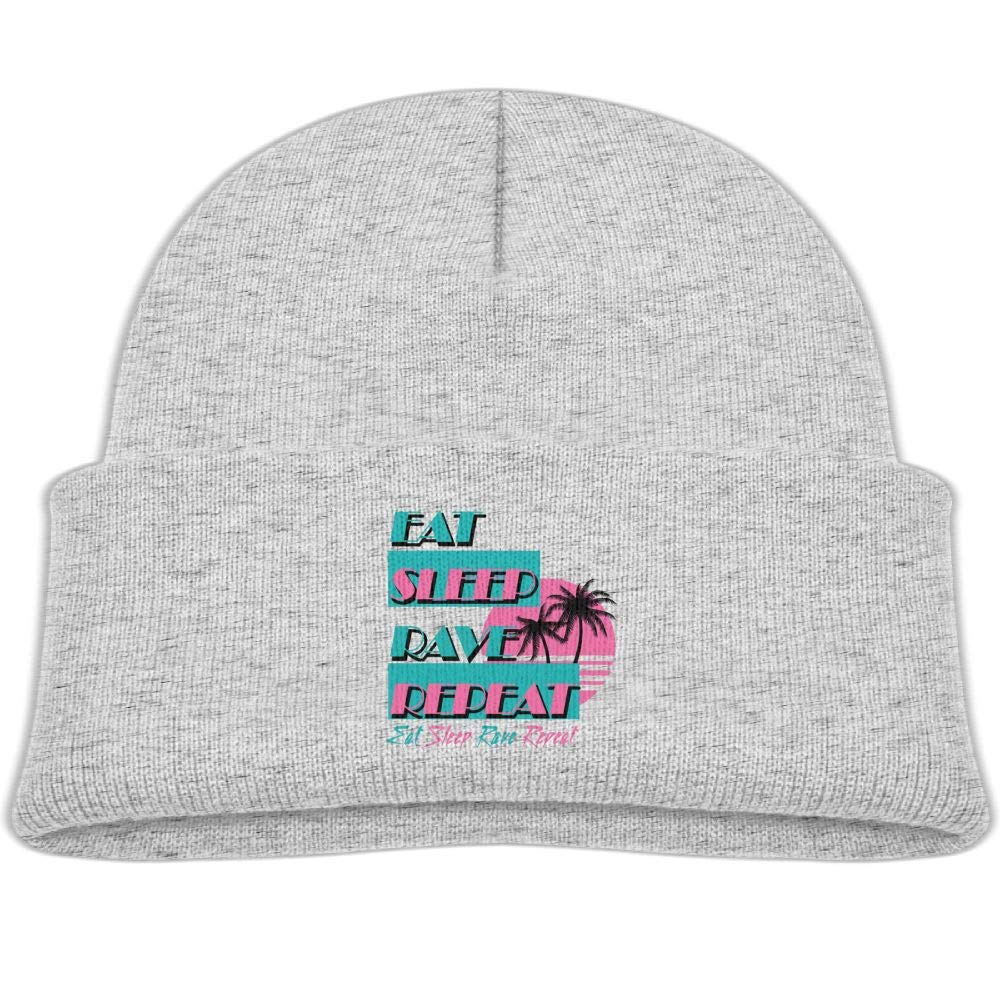 Eat Sleep Rave Repeat Infant Knit Hat Unisex Beanie Cap