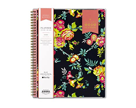 Day Designer for Blue Sky 2019 Weekly & Monthly Planner, Flexible Cover, Twin-Wire Binding, 8.5