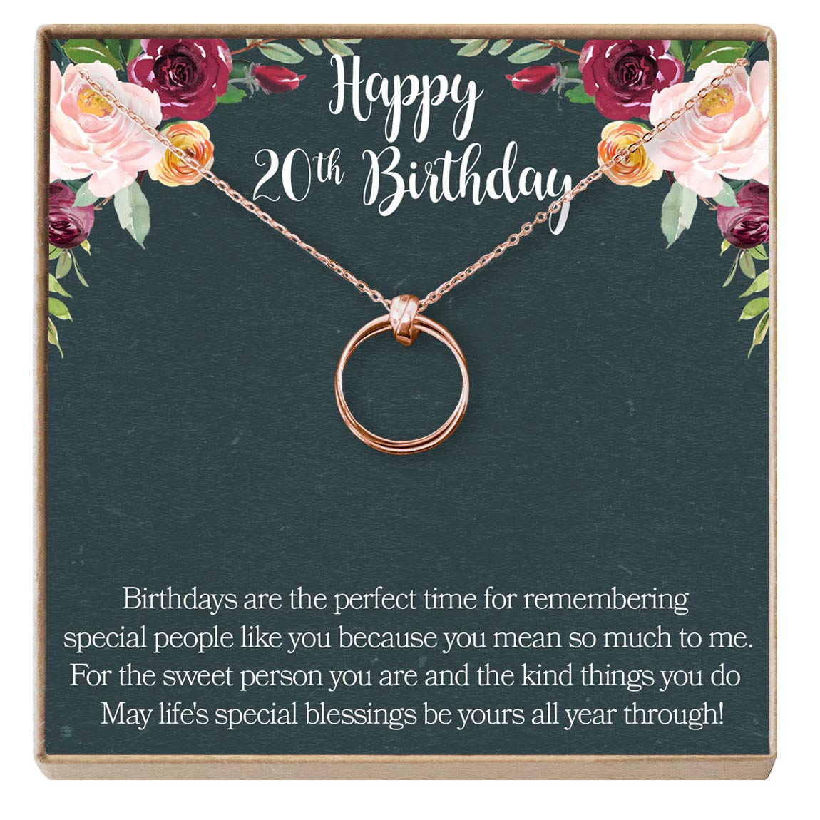 2 Linked Circles Birthday Gift Dear Ava 20th Birthday Gift Necklace Jewelry Gift for Her