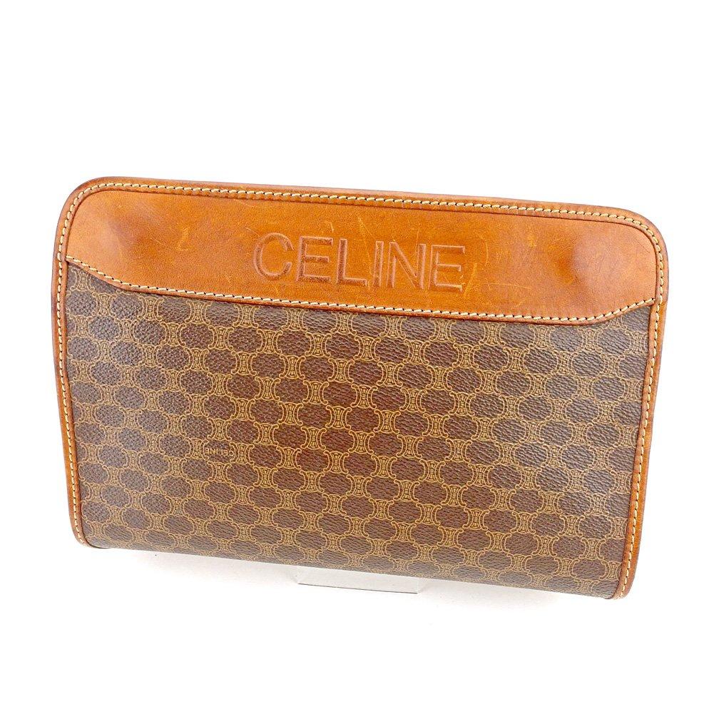 (セリーヌ) Celine クラッチバッグ セカンドバッグ ブラウン ベージュ ゴールド マカダム レディース メンズ 可 中古 T5630   B0797QRS9S