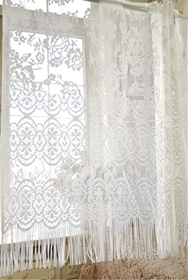 Amazon.com: WPKIRA Princess Style Lace and Tassel Short ...