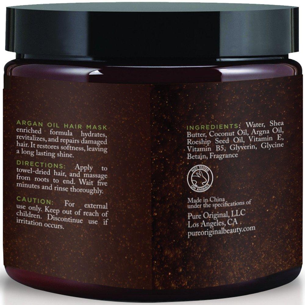 Amazon Com Pure Originals Argan Oil Hair Mask Deep Conditioner 8