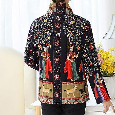 Amazon.com: AOJIAN Women Jacket Long Sleeve Outwear Retro Folk Custom Pockets Buttons Casual Coat: Clothing