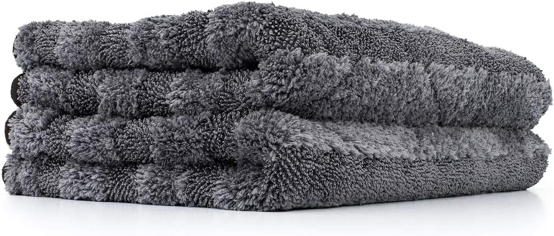 The Rag Company 2-Pack The Gauntlet Microfiber Drying Towel Grey 15in x 24in