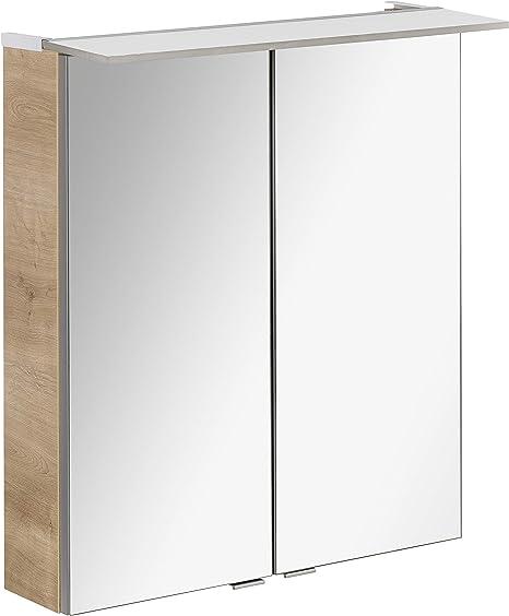 Fackelmann B.PERFEKT LED Spiegelschrank Badschrank Weiß 60 cm Made in Germany