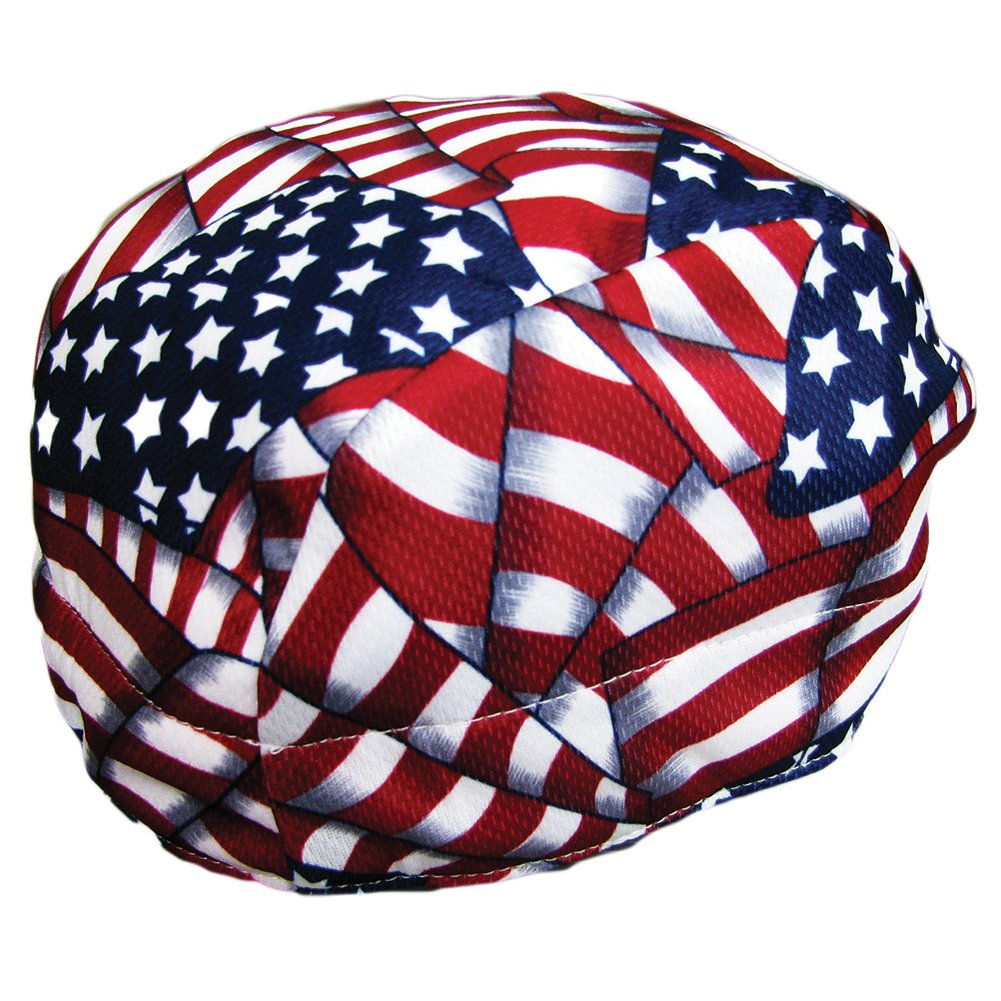 Cool Aids Evaporative Cooling Beanie Red, White & Blue One Size