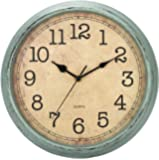HYLANDA 12 Inch Vintage/Retro Wall Clock, Silent Non-Ticking Decorative Wall Clocks Battery Operated with Large Numbers…